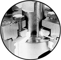 Non-lubricated Plug Valve Wafer Mounting