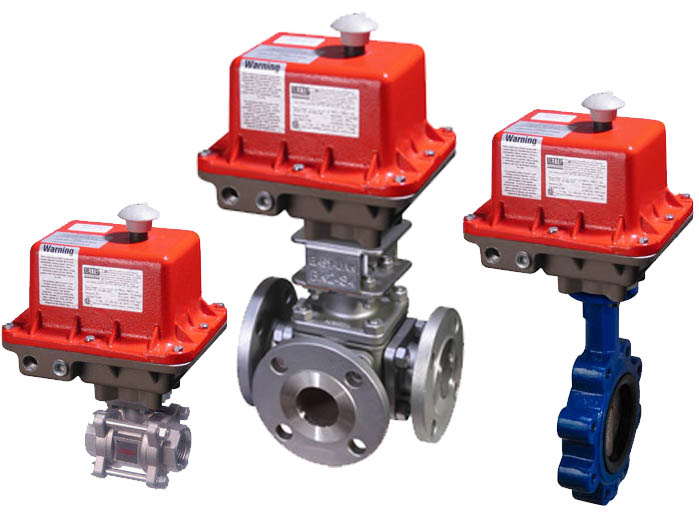 B Series Heavy Duty Electric Actuators on various valves