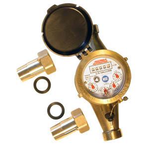 NSF Certified Lead Free Brass Water Meter - WM-NLC Series