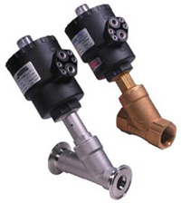 Angle Valves - Pneumatic Piston Valves