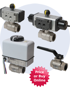 2-Piece Actuated Brass Ball Valves