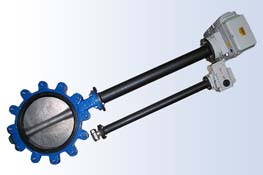 custom lug butterfly valve & shaft extension