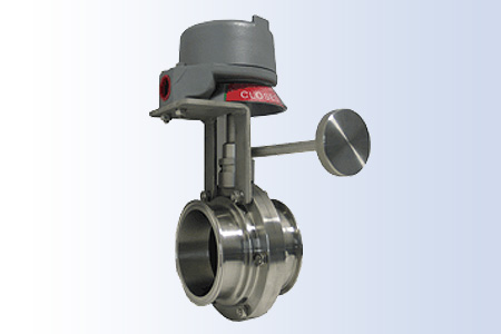 Custom Manual Valve with Limit Switch