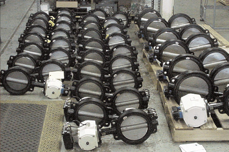 44 Actuated Butterfly Valves Shipped in 6 Days
