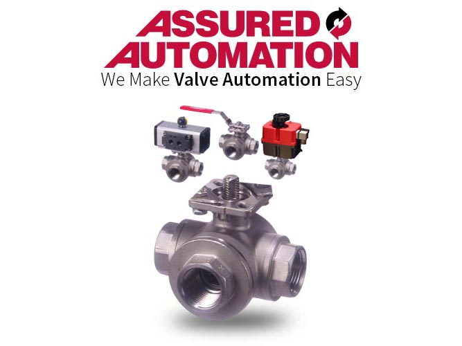 Actuated Stainless Steel 3-way Ball Valves / 3-way Diverter