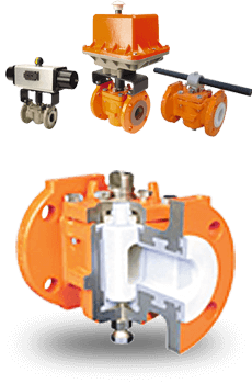 actuated PFA Lined Plug Valves
