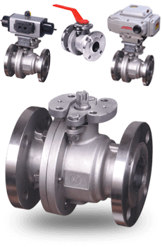 actuated Flanged Ball Valves