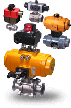 actuated 2-way ball valves