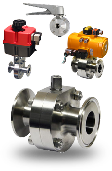 Actuated Sanitary Butterfly Valves