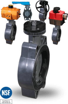 actuated PVC Butterfly Valves