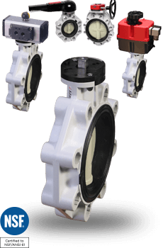 actuated Polypropylene Butterfly Valves