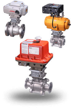 V-port ball valves for steam