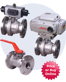 Flanged Actuated Brass Ball Valves