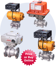 Actuated V-Port Ball Valves