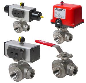 3 way process valves