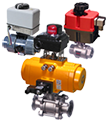 actuated and manual 2-way ball valves