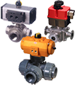 actuated and manual 3-way ball valves