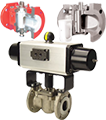 actuated and manual plug valves