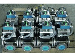 custom 3 way full port flanged ball valves