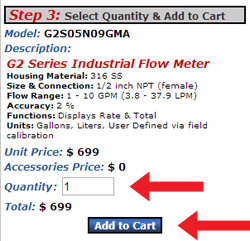 Add Flow Meter to Cart