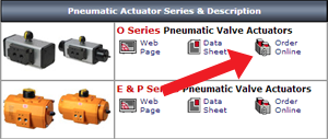 order pneumatic actuators online