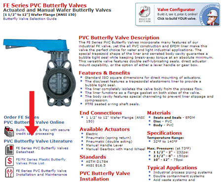 valve and flow meter literature and datasheets