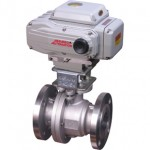 2 Way Full Port Flanged ball valve