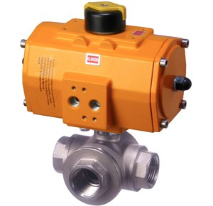 3 Way valve with pneumatic actuator