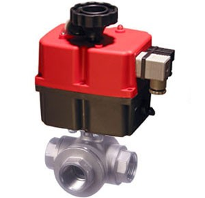 3 Way Valve with weatherproof electric actuator