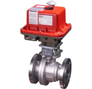 Flanged Ball Valve with explosion-proof electric actuator