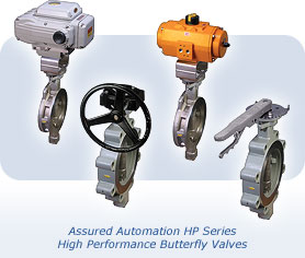 High Performance Butterfly Valves by Assured Automation
